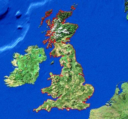 Angleterre en Relief