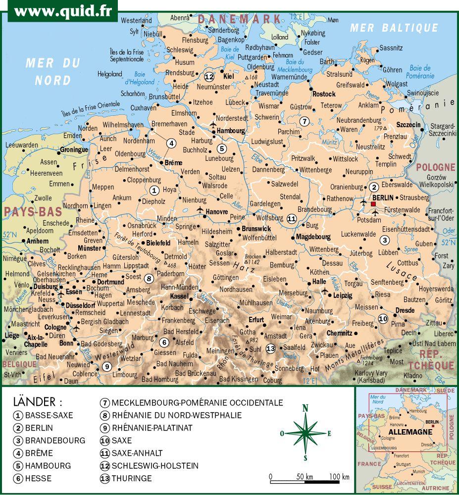 Allemagne du Nord (carte)