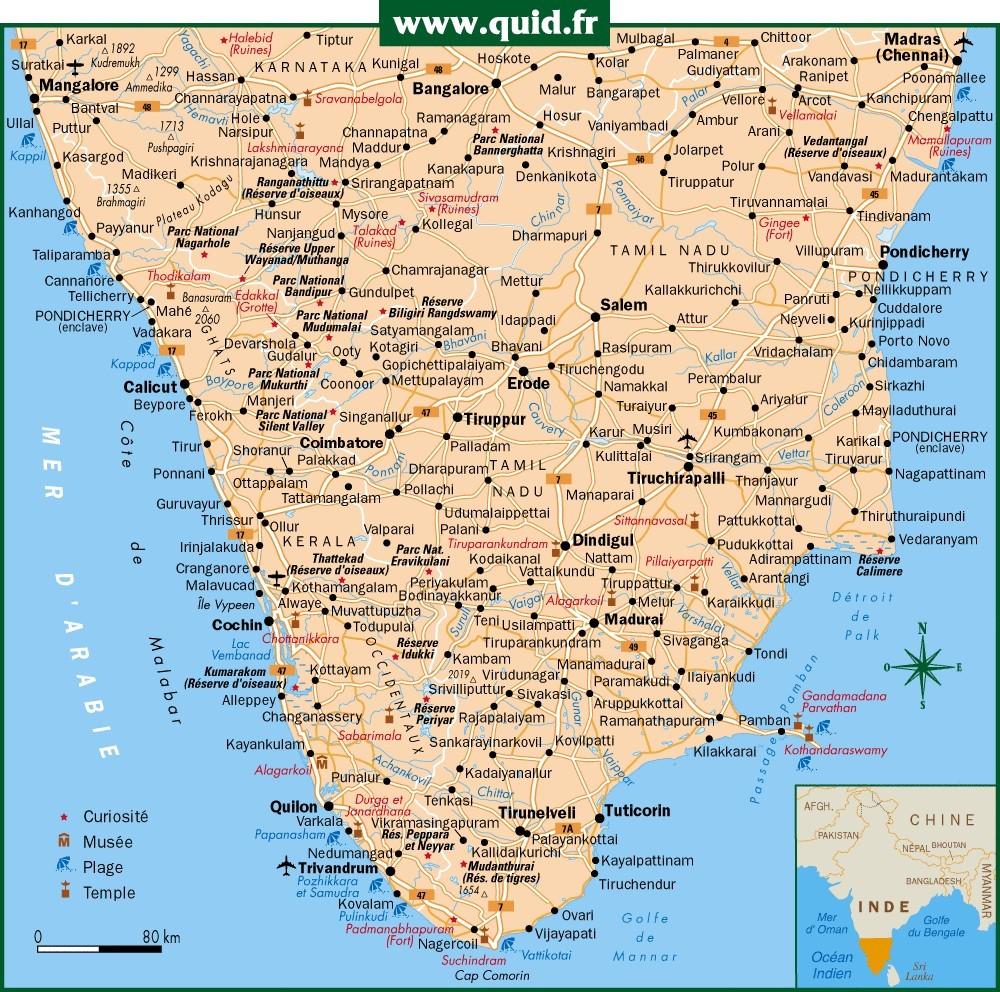 Inde du Sud (carte)