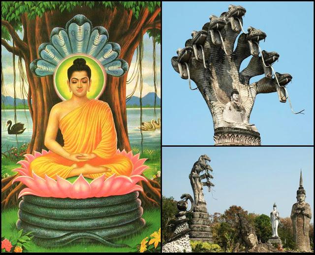 Bouddha et Nâga Mucilinda